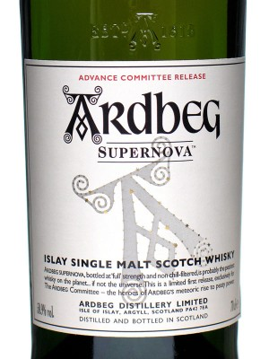 Ardbeg Supernova Front Label