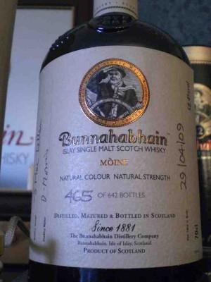 Bunnahabhain Moine festival bottling