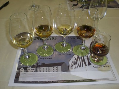 Another very strong line-up at the Laphroaig tasting