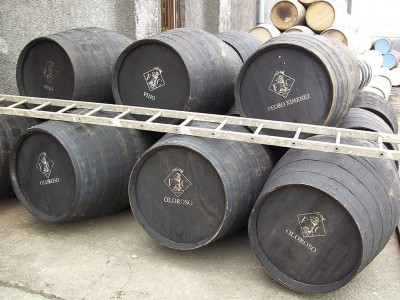 Sherry casks at Bruichladdich