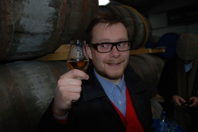 Joel getting up close and personal with his Kilchoman