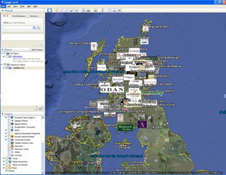 Mapping the UK's distilleries on Google Earth...