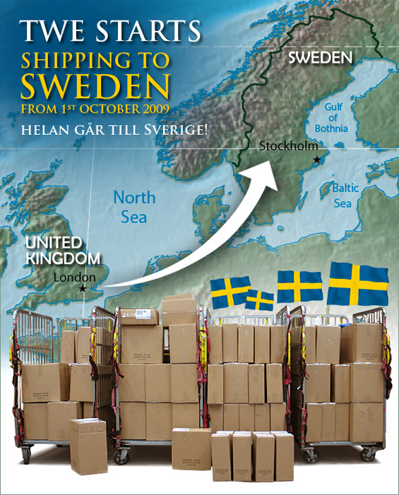 Lalala, we are shipping to Sweden