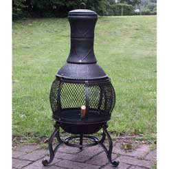 A chiminea chosen to loosely illustrate curmudgeonliness.