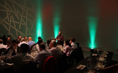 Some rather Celtic lighting at the Cooley tasting