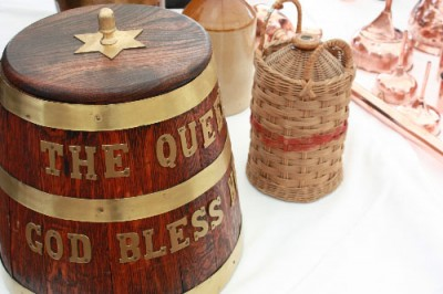 A Grog Tub and one of the original rum flagons