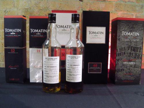 Tomatin tasing lineup