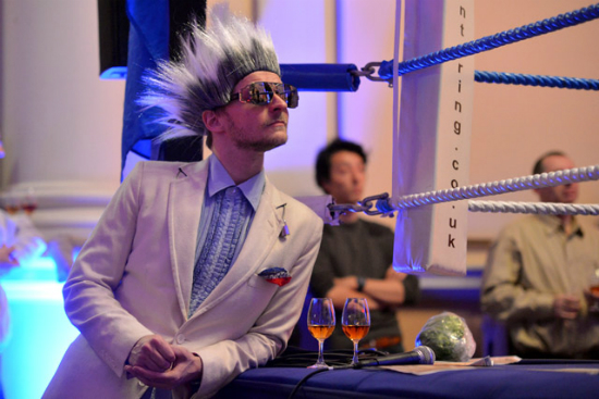Ringmaster Franchi at Whisky Fight Night (pic © Colin Hampden-White)