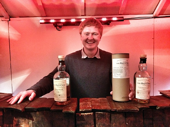 Sam at the Balvenie Fete Shop