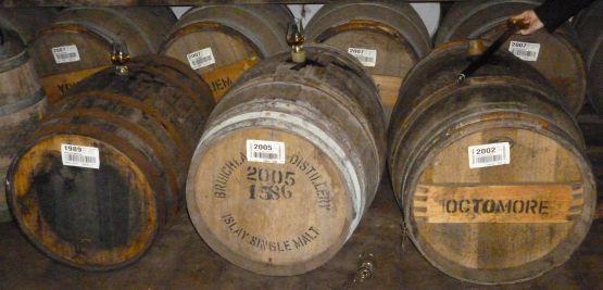 Three cask tasting at Bruichladdich