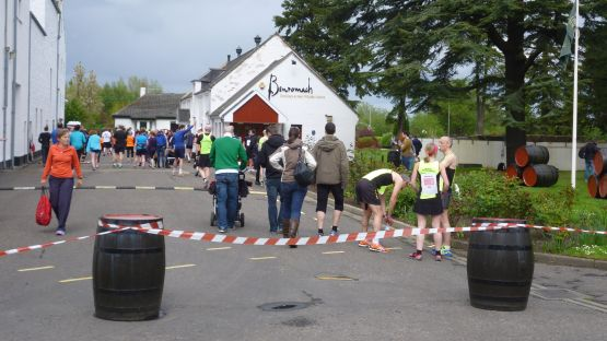 Benromach at the start of the 10k run