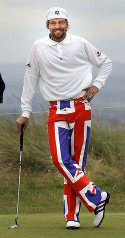 Rocky as a golfer
