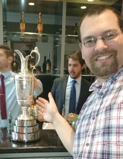 Rocky and the claret jug