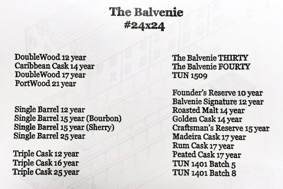 The Balvenie #24x24 lineup