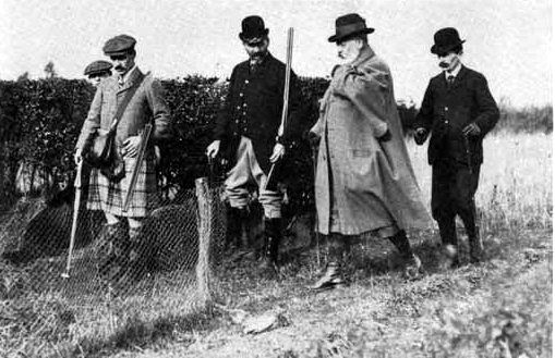King Edward VII hunting