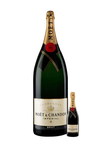 Moët & Chandon Champagne bottle and nebuchadnezzar