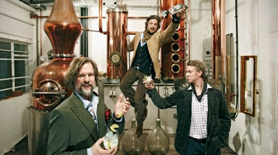 Sipsmith started the British spirits revival in 2009. From left: master distiller Jared Brown with founders Sam Galsworthy and Fairfax Hall