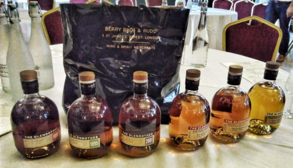 Glenrothes Tasting line-up