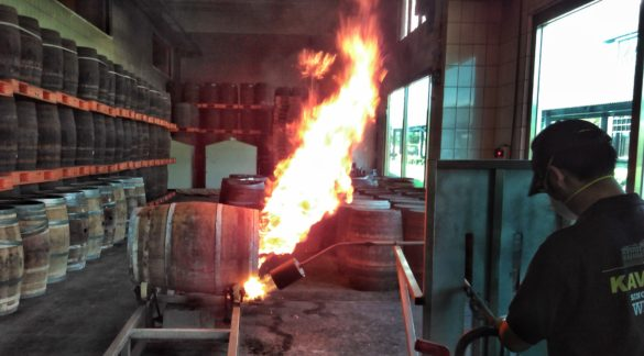 Cask charring at Kavalan