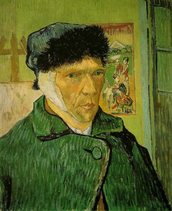 Van Gogh Self portrait of the artist with a bandaged ear