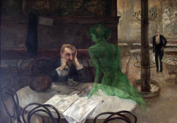 The Absinthe Drinker by Viktor Oliva