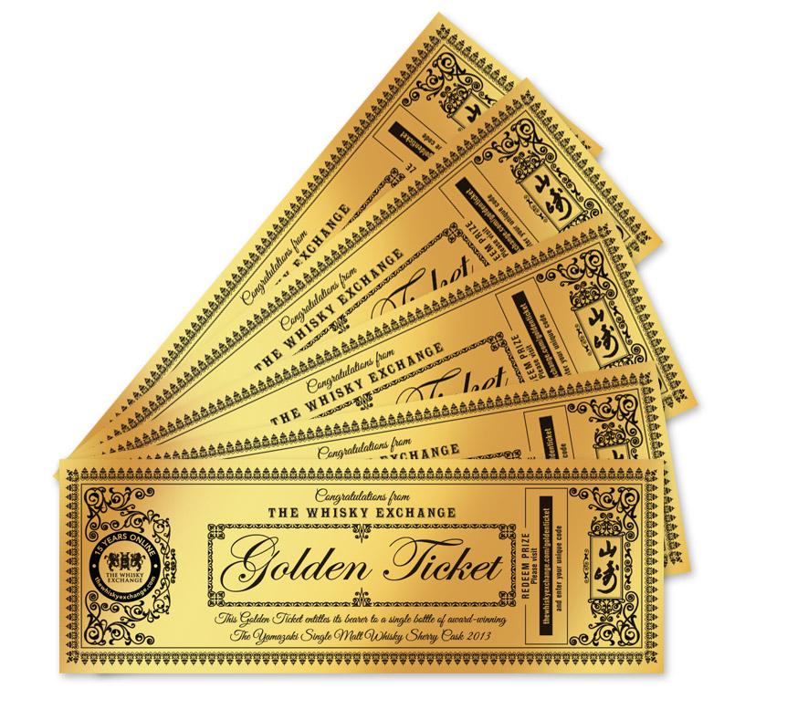 the whisky exchange golden ticket giveaway it could be. Black Bedroom Furniture Sets. Home Design Ideas