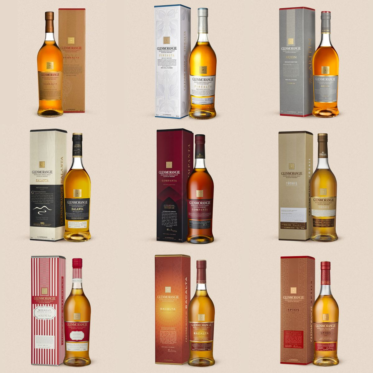 Glenmorangie Private Editions 1-9